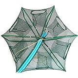 Portable Bait Traps Fishing Nets Foldable - Easy Use Hand Casting Bait Traps Cage Baits Cast Mesh Trap for Fishes, Shrimp, Mi