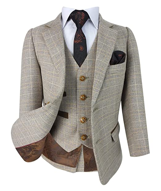Amazon.com: Paul Andrew - Traje retro de tweed a cuadros ...