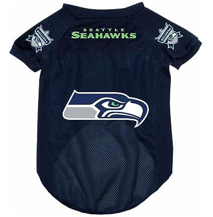 Amazon.com   Seattle Seahawks Pet Dog Football Jersey Alternate ... 2d35d4eaf