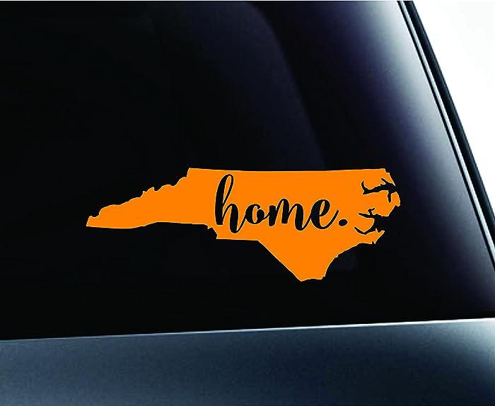 Top 10 North Carolina Home Sticker Orange