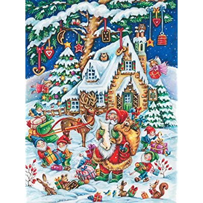 Vermont Christmas Company Santa's Helpers Jigsaw Puzzle 550 Piece: Toys & Games