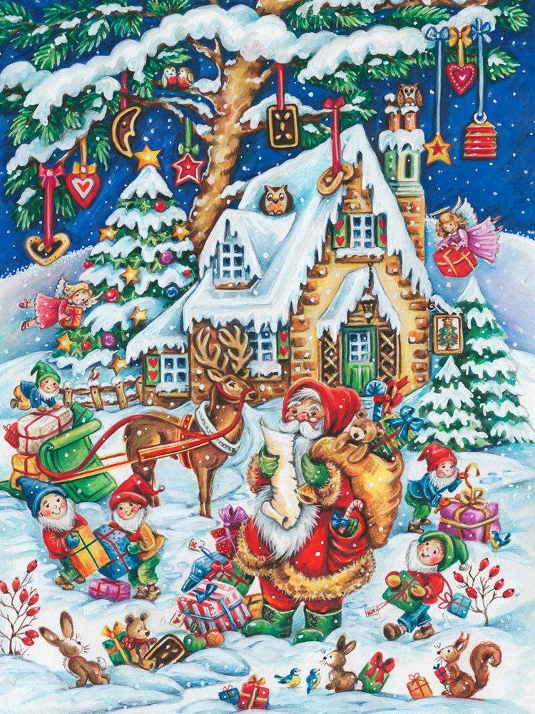 Vermont Christmas Company Santas Helpers Jigsaw Puzzle 550 Piece