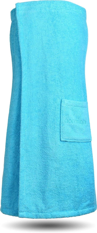 normani Saunakilt Saunatuch für Damen 100% Bio Baumwolle mit Praktischem Schnellverschluss Oeko-Tex® 100