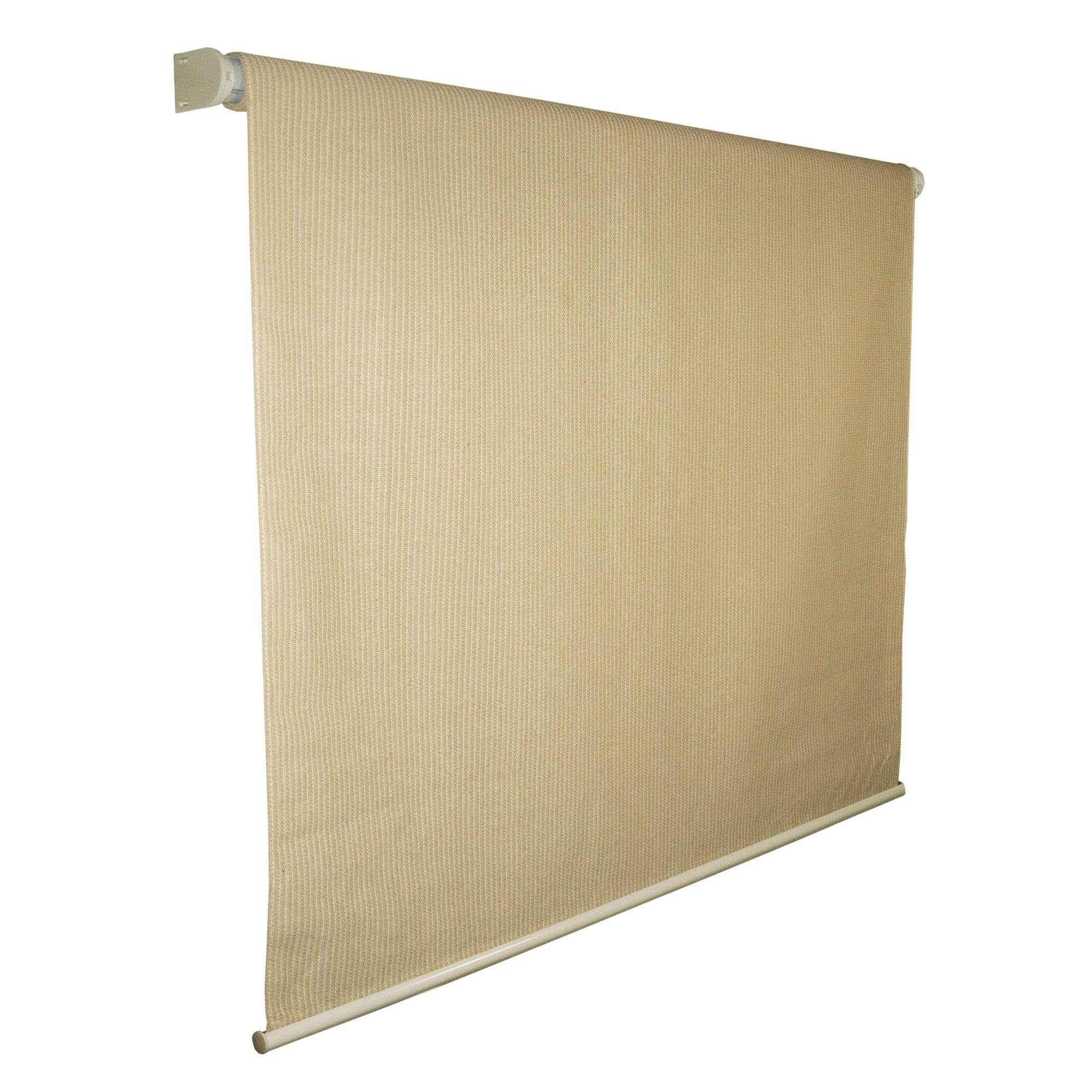 Coolaroo Exterior Roller Shade, Cordless Roller Shade with 90% UV Protection, No Valance, (4' X 6'), Southern Sunset