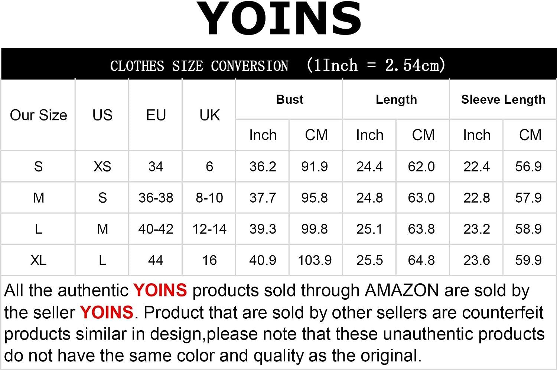 YOINS Su/éter Punto Mujer Invierno Jersey Cuello en V Camiseta Manga Larga Jers/éis Basico Suelto Jerseys Camisa Mujer Primavera Oto/ño
