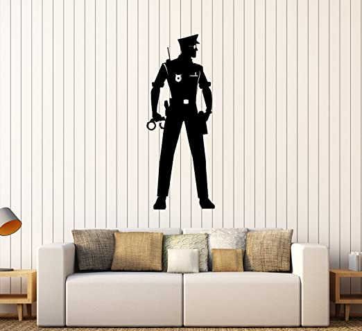 Details about  /Wall Vinyl Decal  Police Officer Law Policeman Cop Decor z4587