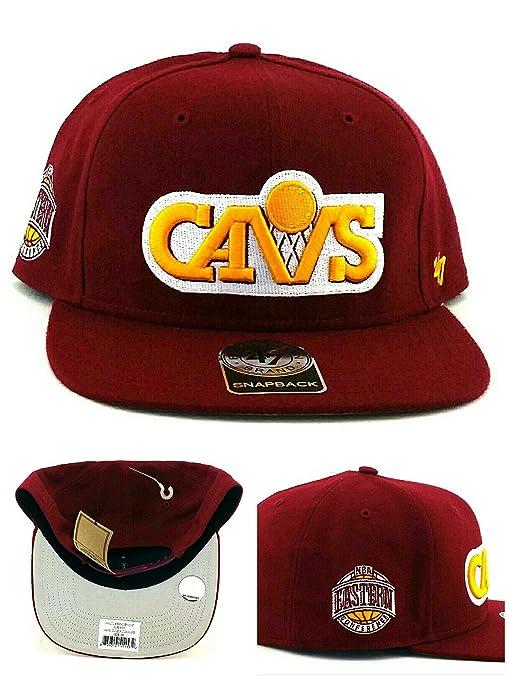 Amazon.com   Cleveland Cavaliers NBA 47 Brand Sure Shot Captain Wool ... 2b37d0592ce