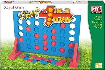 Giant 4 In A Row Game - Juegos de jardín - Juegos gigantes - Juegos familiares …: Amazon.es: Juguetes y juegos