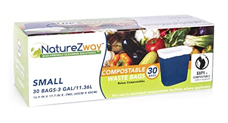 Amazon.com: NatureZway - Bolsas pequeñas de basura (3 ...
