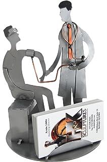 Amazon h k sculptures 6683bc dentist with patient business h k sculptures 6682bc doctor with patient male business card holder colourmoves