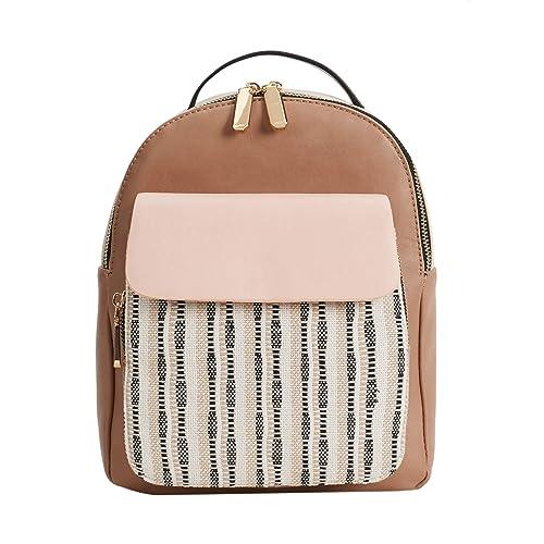 89b9640096a02 Parfois - Taschen Rucksack Patchwork Beige - Damen - Größe M - Beige ...
