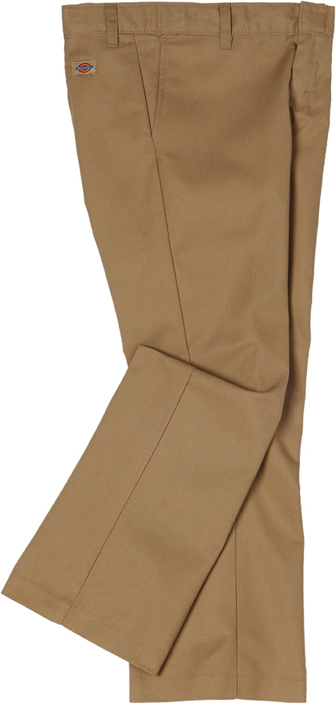 Dickies Girls' Flex Waist Flat Front Pant: School Uniform Pants: Clothing