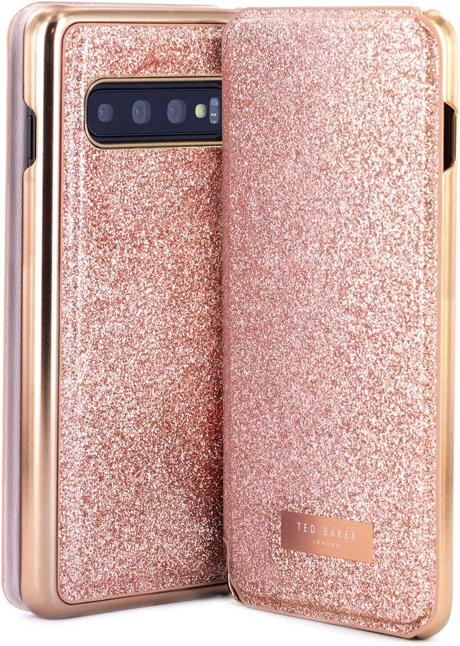 Ted Baker Fashion GLITSYY Mirror Folio Case for Samsung Galaxy S10, Protective Cover Galaxy S10 for Professional Women/Girls: Amazon.es: Electrónica