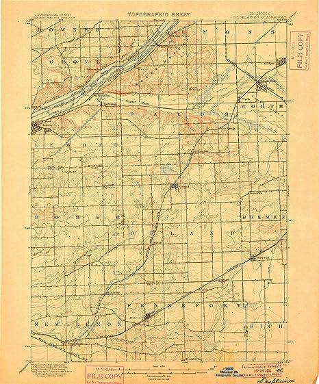 Amazon.com : YellowMaps Des Plaines IL topo map, 1:62500 ...