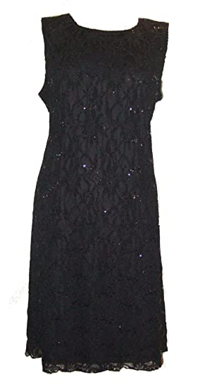 Amazon Dangerousfx Womens Sparkly Sequined Lace Dress Clothing