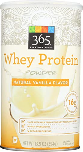 365 Everyday Value, Whey Protein Powder, Natural Vanilla Flavor, 13.7 oz