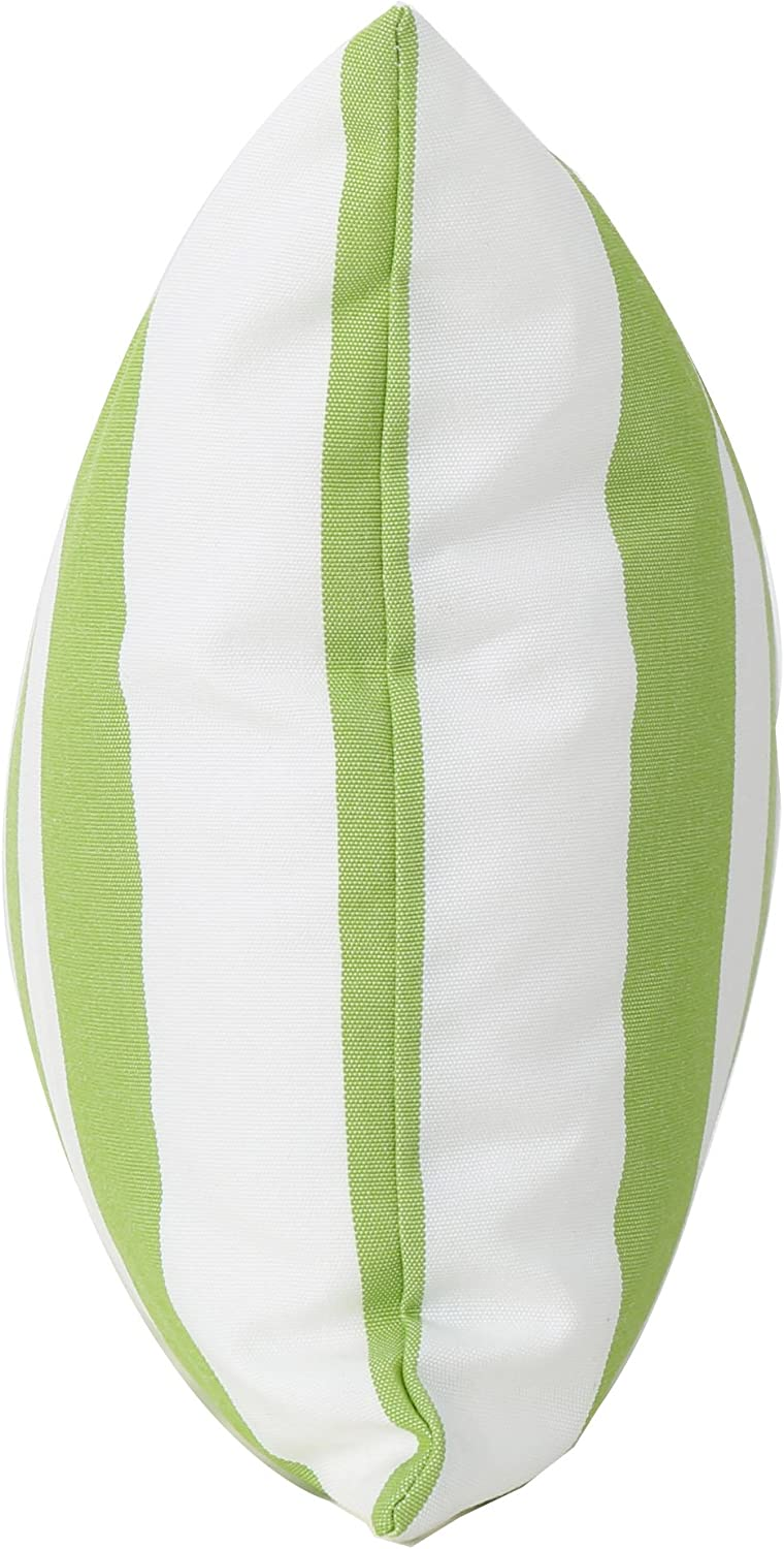 Christopher Knight Home Grayson Solid Stripe Throw Pillows Set of 4 Green White