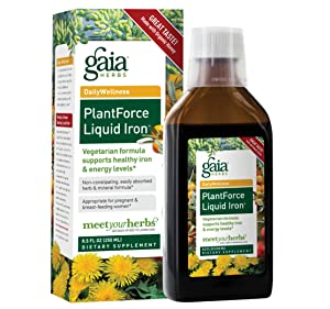 Gaia Herbs PlantForce Liquid Iron Supplement, 8.5 Ounce - Supports Healthy Iron and Energy Levels, Great-Tasting Vegetarian Herbal Formula