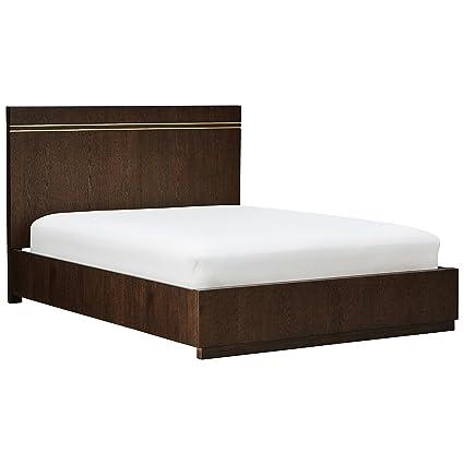 1a373880d79 Amazon.com  Rivet West Platform Queen Bed With Inlays