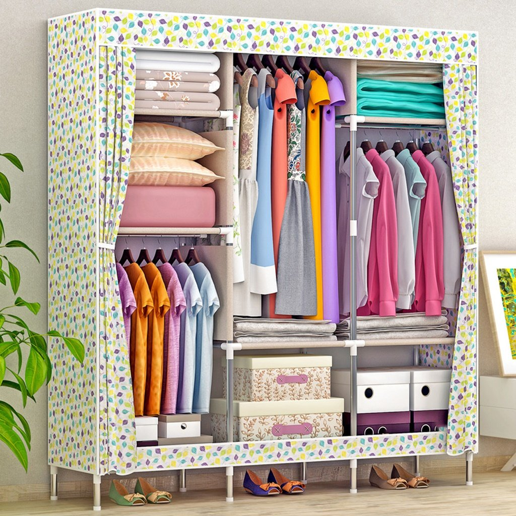 MMM& Einfache moderne Wirtschaft-Schrank-faltenden einzelnen Zusammenbau-Schlafsaal, der Tuch-Schränke enthält ( farbe    3 )