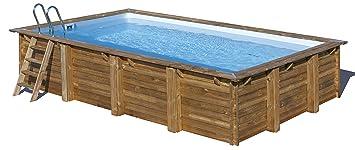 Piscina de madera GRE rectangular Evora Wooden Pool GRE ...