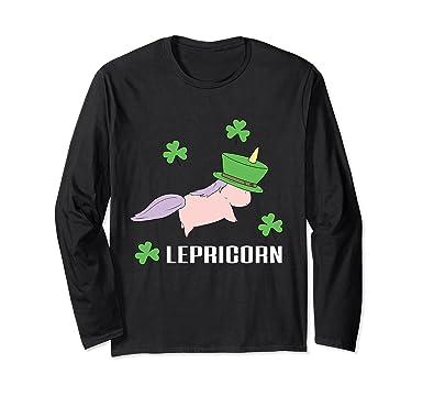 Unisex Lepricorn Leprechaun Unicorn Pun St. Patrick's Day T-Shirt Small  Black