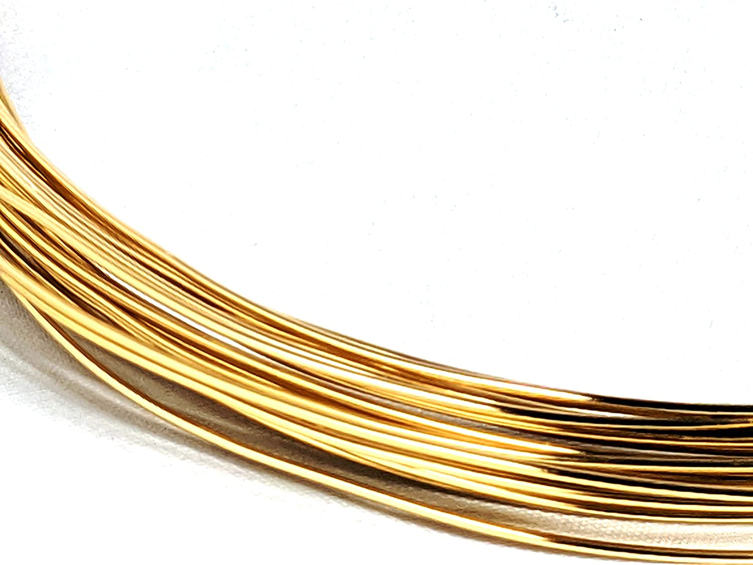 Anodised 10m Length from Bekis Beads for Arts Crafts Florists Jewellery Making Aluminium Wire 1mm 14K Gold Plated