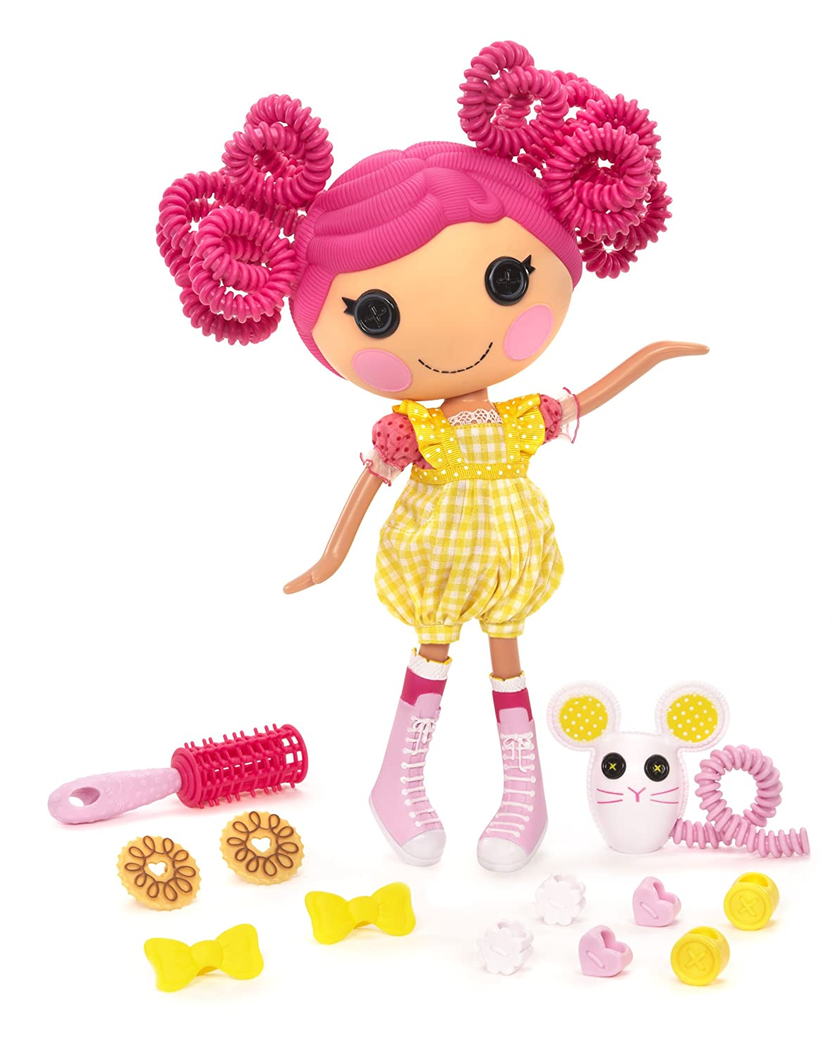 MGA Entertainment 506645E4C - Lalaloopsy Frisurenspaß Crumbs Sugar Cookie