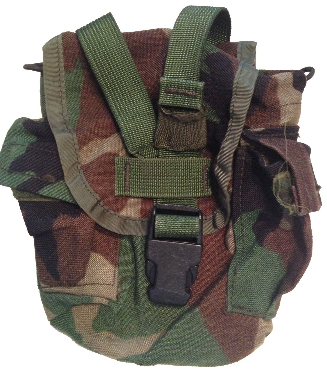 Military Outdoor Clothing Never Issued Olive Drab 1 quart Canteen with Previously Issued US G.I. Woodland Canteen Cover