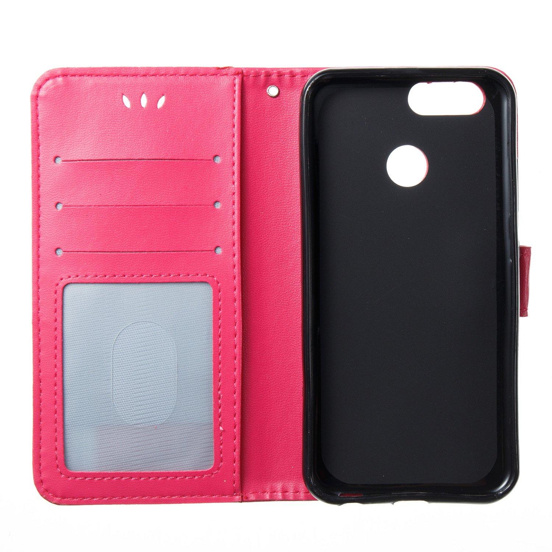 Felfy Huawei Nova 2 Plus H/ülle Leder Flip Tasche mit Kartenfach Klapph/ülle Book Case