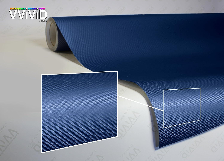 VViViD XPO Dry Navy Blue Carbon Fiber Vinyl Wrap Roll with Air Release Technology (17.75' x 5ft) XPO1p47FTCarbonBlueNavy