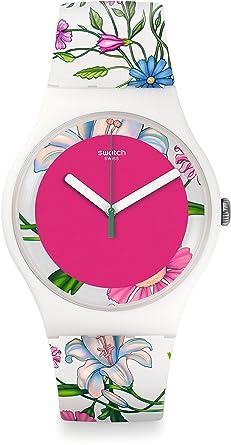 Swatch Reloj Analógico de Cuarzo para Mujer con Correa de Plástico - SUOW127: Amazon.es: Relojes