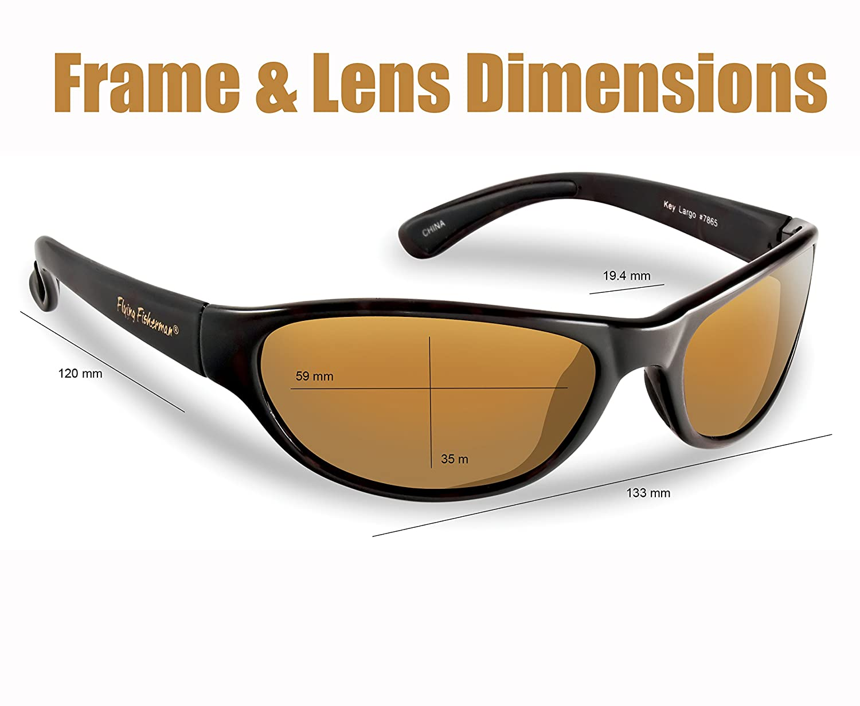 e372b83a8e Amazon.com   Flying Fisherman Key Largo Polarized Sunglasses (Matte Black  Frame