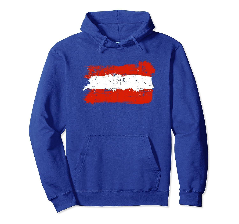 Austria Flag Hoodie Distressed Vintage Style-AZP