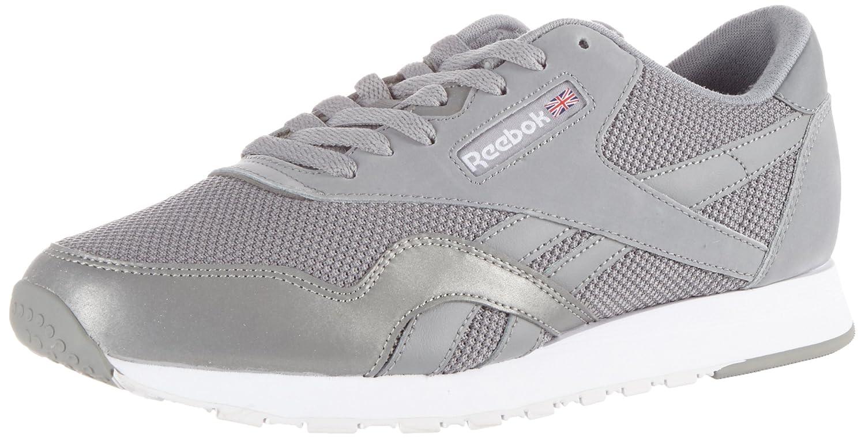 Reebok Herren Classic Nylon Tech Mix Sneaker  45 EU|Grau (Grey/ White/ Steel)