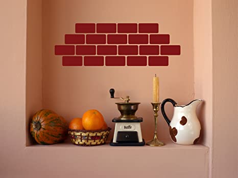 Amazon.com: Chic Walls Set of 20 Burgundy Removable Custom ...