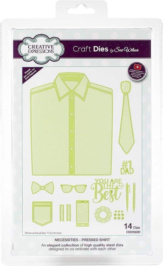 Sue Wilson Necessities Collection - Juego de Troqueles para Camisa, Metal, Plata, 25,5 x 15,5 x 0,6 cm: Amazon.es: Hogar