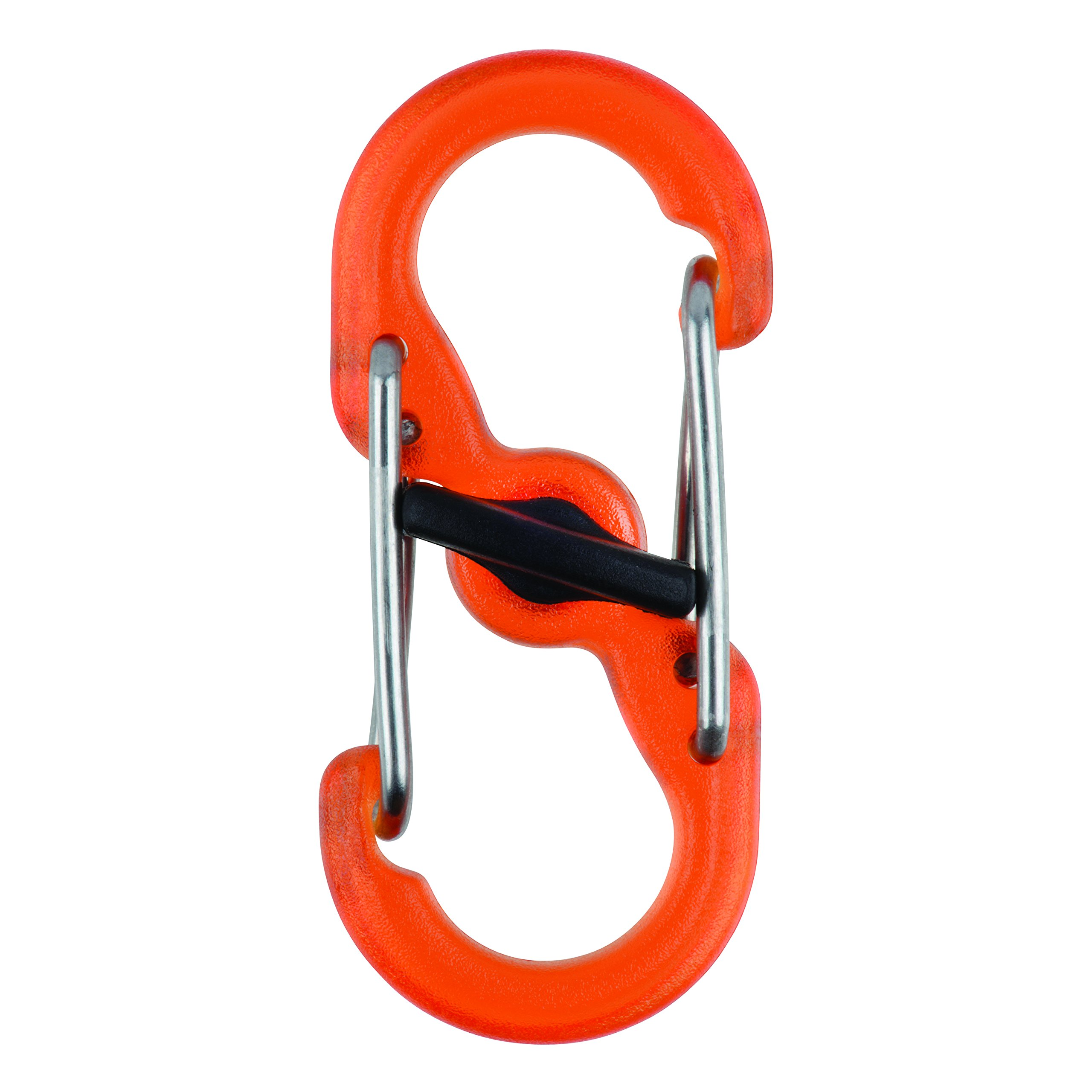 NITE IZE LSBPM-19T-2R3 S Biner MicroLock Polycarbonate (2 PACK) Orange