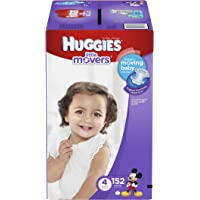 152 Ct Huggies Little Movers Diapers, Size 4
