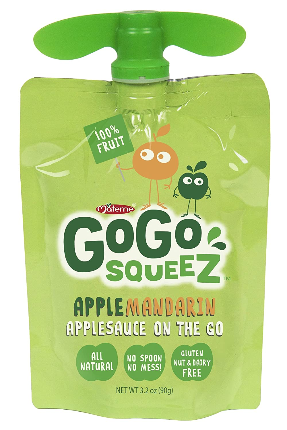 GoGo Squeez -Applesauce On The Go, bolsas de 3.2 oz, 4 ...