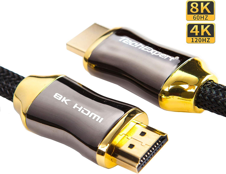 TechExpert Cable HDMI 2.1 8K 4K 120Hz Profesional Ultra HD 2160p ...