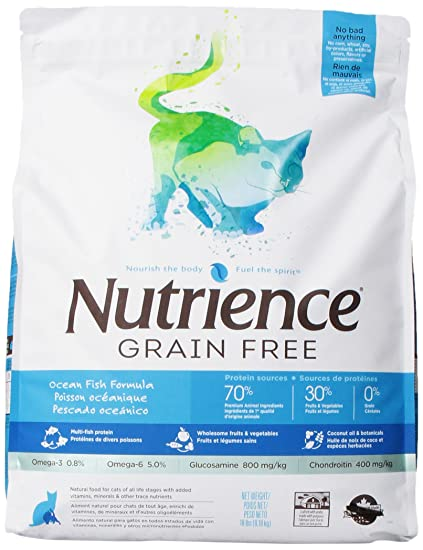 Nutrience Grain Free Cat Food, 18-Pounds, Ocean Fish