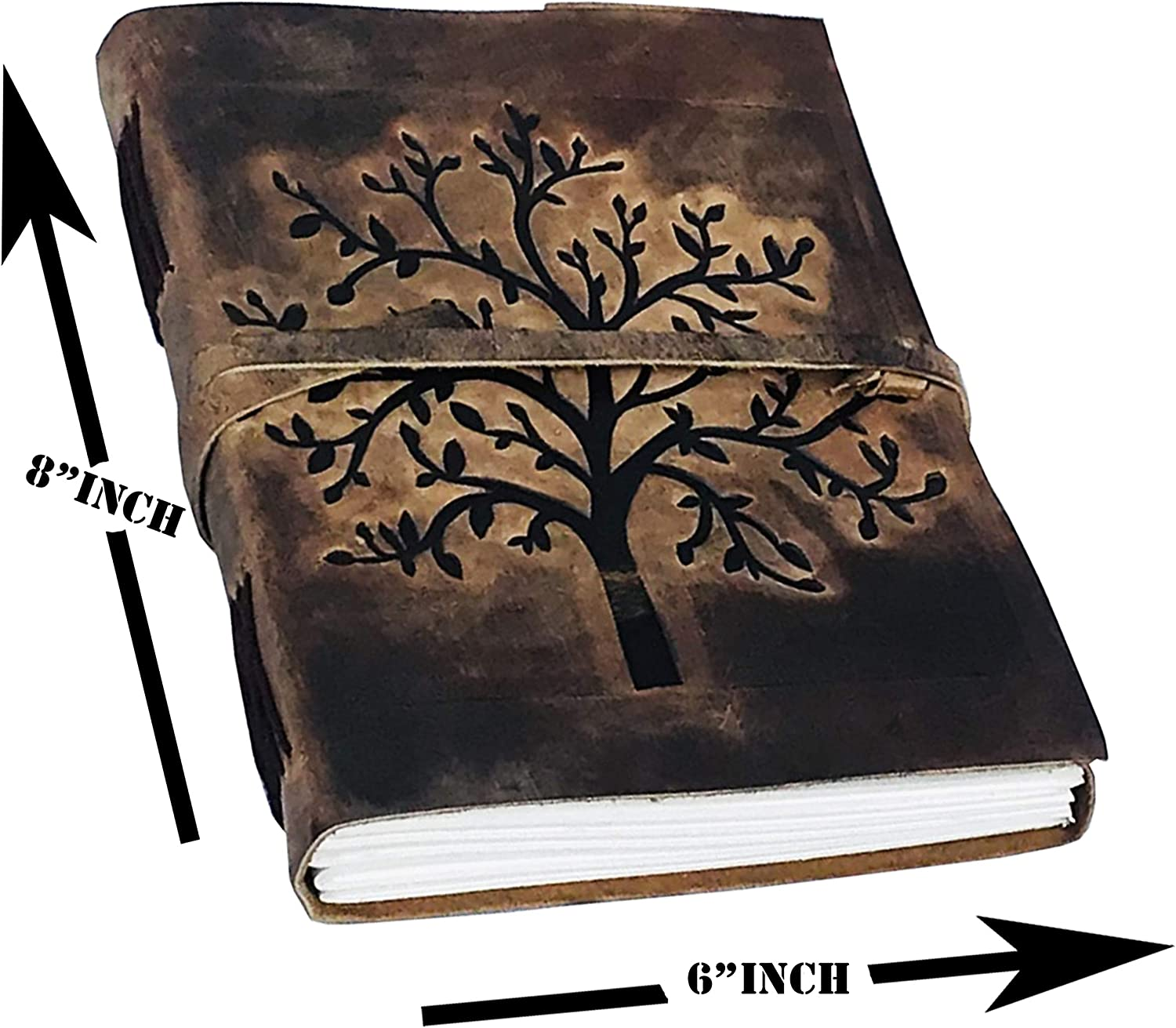 Leather Bound Journal Notebook for Men /& Women Travel Big Life journals for Writing Sketching Drawing Poetry a5 Unlined Blank Diary Book Sketch Plain Blank Handmade Paper refillable Tree of Life