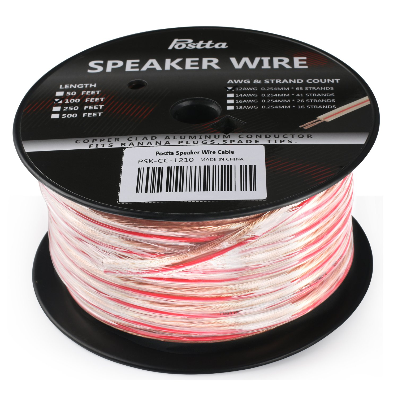 Postta 12-Gauge Speaker Wire Cable - 100 Feet