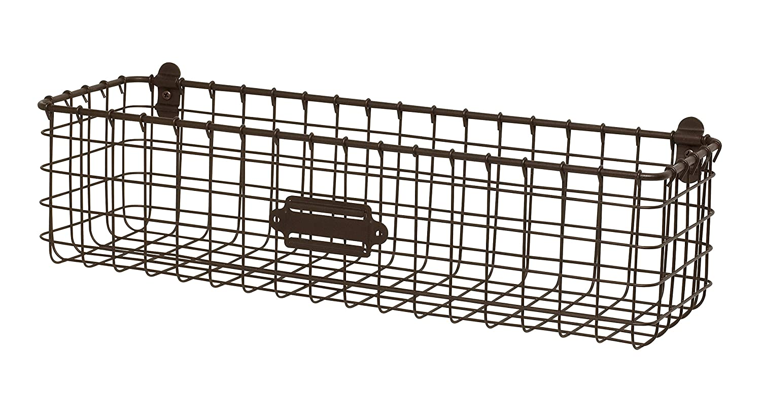 Spectrum Diversified Vintage Wall Mount Basket, Bronze 15924