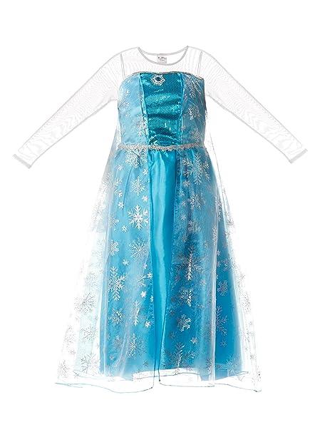Vestido De La Reina De La Nieve Elsa De Frozen Para Niñas De Fairy Tale Designs Talla Para Edades De 3 4