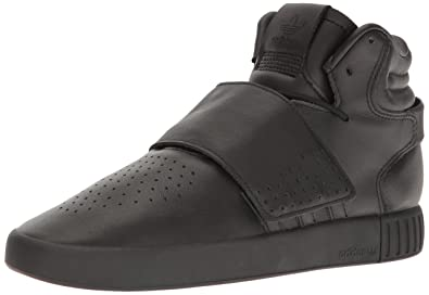 adidas Originals Men's Shoes | Tubular Invader Strap Fashion Sneakers, Utility Black Fabric, (