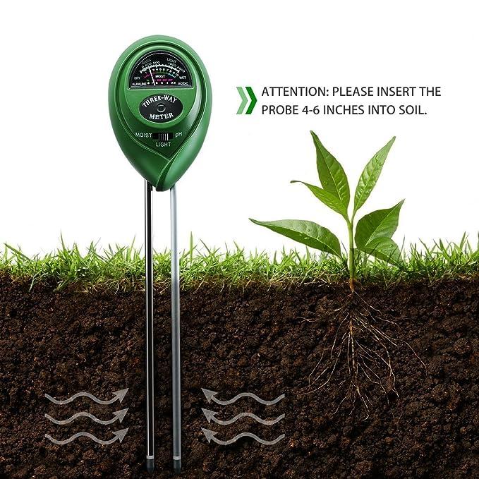 amazoncom ph soil meter 3 in 1 soil tester kit moisture soil meter with light ph acidity meter gardening tools for plant lawn farm indooroutdoors - Garden Soil