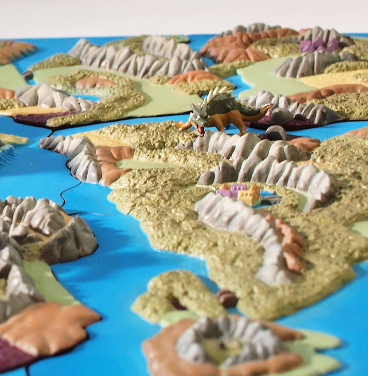 Dragon Quest 25th anniversary Map Diorama Collection 9 pieces Square ...