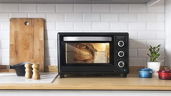 Cecotec Bake&Toast 650 Gyro - Horno Conveccion Sobremesa, capacidad de 30 litros, 1500 W, 5 Modos, Temperatura hasta 230ºC y Tiempo hasta 60 Minutos: Amazon.es: Hogar